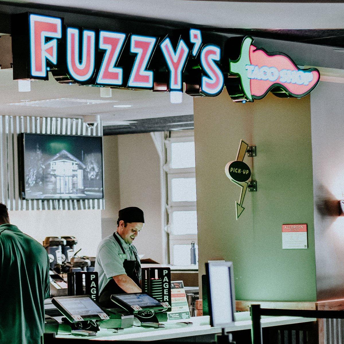 Fuzzy's taco shop storefront