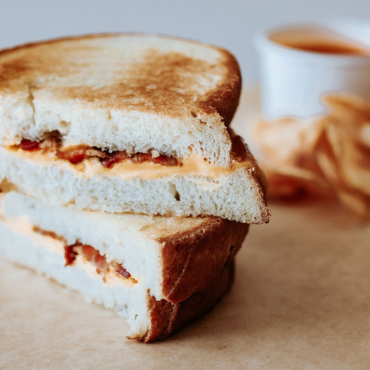Bacon grilled cheese sandwich from Khush Roti