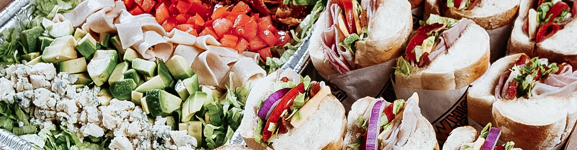 Which Wich sandwiches and salad catering