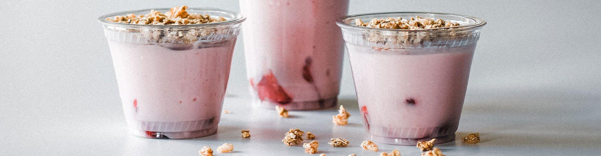 Yogurt parfaits made in-house