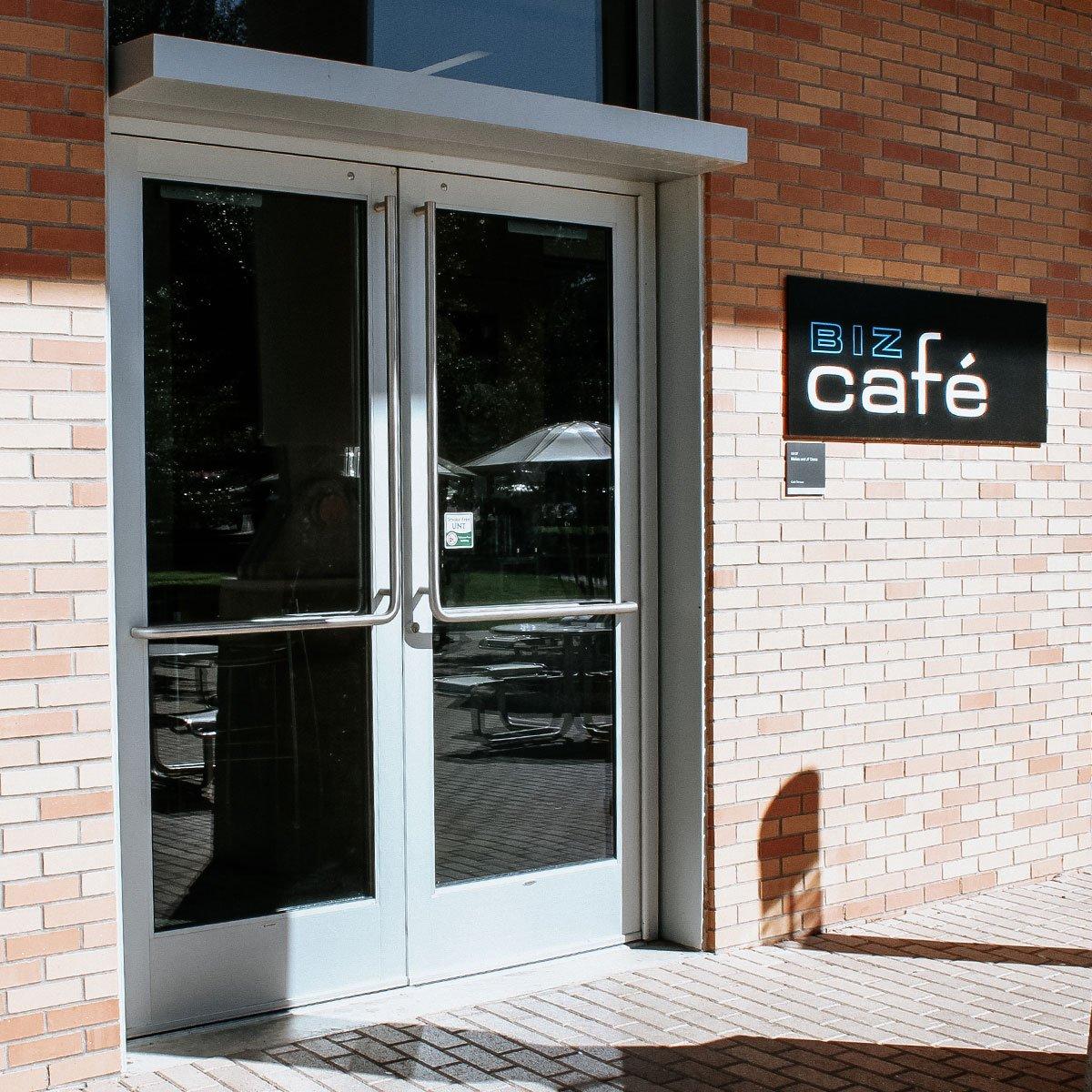 Biz Cafe entrance at the BLB