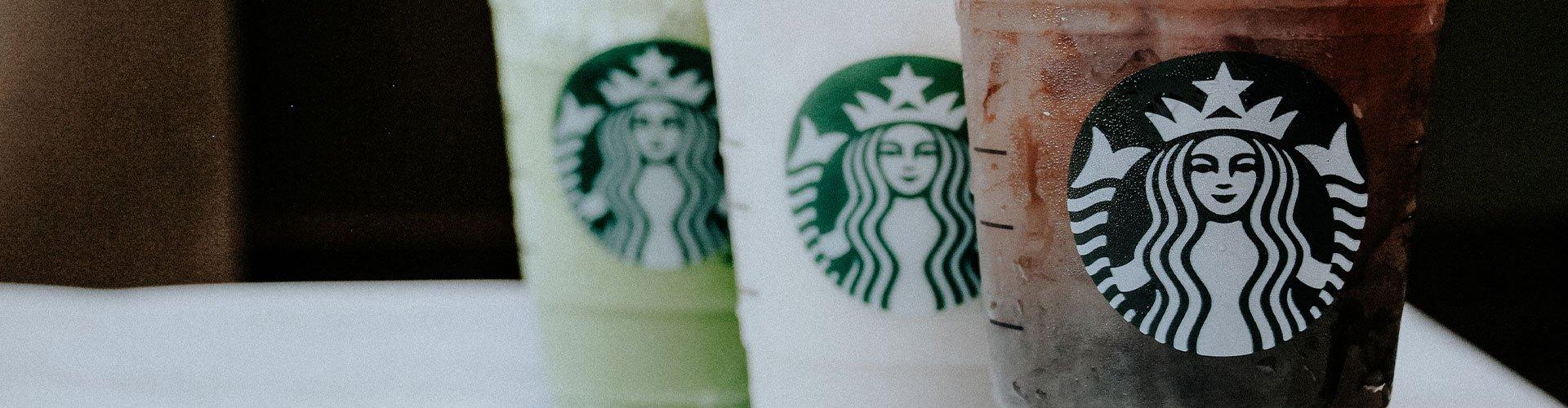 Starbucks UNT themed drinks