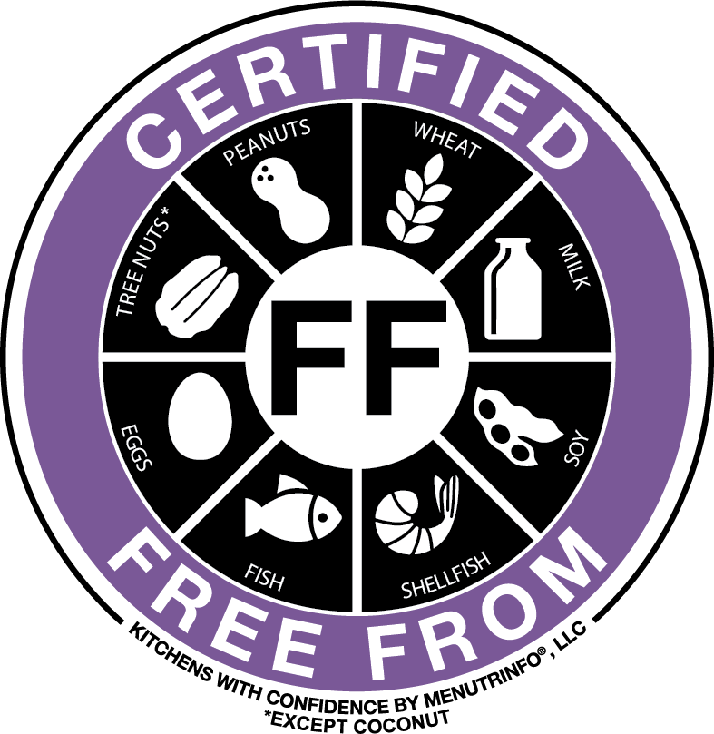 """""""Certified Free From"""" trademark certification by Kitchens with Confidence"""
