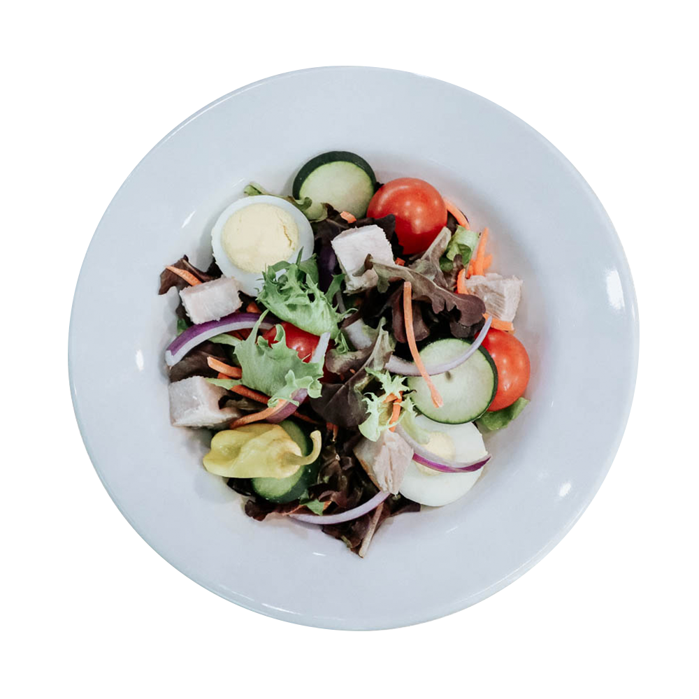 House salad with various fresh toppings